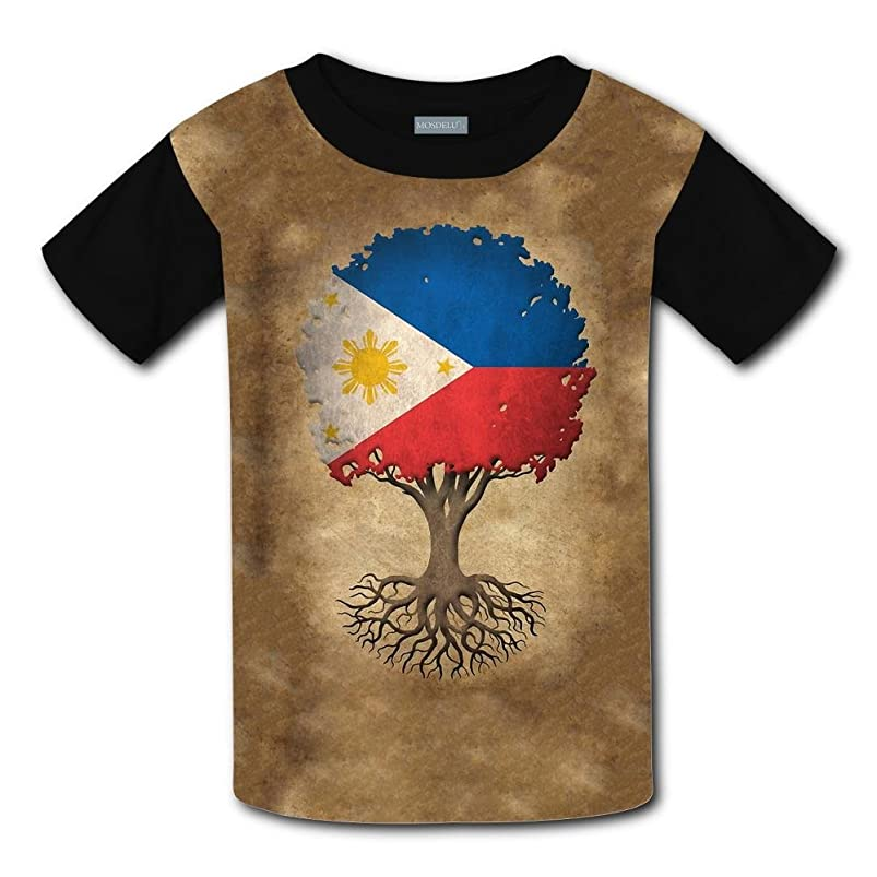 O-Neck 100% Polyester Fiber Classic Short Sleeve Top T-Shirts For Boys Girls,Print Vintage Tree Of Life pbjeyjvm024914