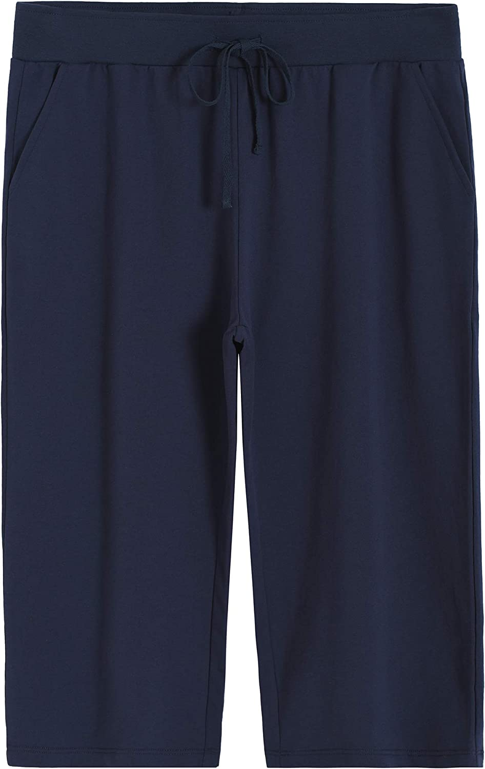 Weintee Max 62% OFF Women's Plus Size French with Sweatpants Financial sales sale Capri Terry Poc