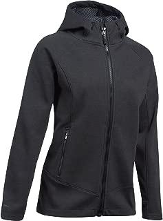 Womens ColdGear Infrared Dobson Hooded Softshell, Black/Black, Large
