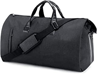 Suit Travel Bag Carry On Garment Bag with Shoes Compartment Duffle Bag Weekend Bag Flight Bag for Travel & Business Trips With Shoulder Strap, Black