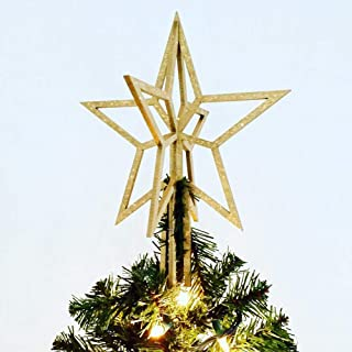 Christmas tree topper Gold star. Custom tree star.