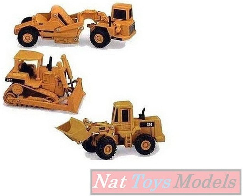Norscot NR55018 Set Cat 613C+950F+D6H Pz.3 1 64 modelloLINO Die Cast modello Compatibile con