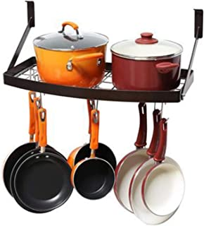 BAODI Porte-casseroles Rangement de Cuisine PANS Pot Pot Organizer Rack Cuisin Carrelier Suspension Suspendue pour la Cuis...