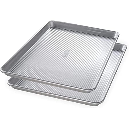 USA Pan Bakeware Half Sheet Pan, Set of 2, Aluminized Steel