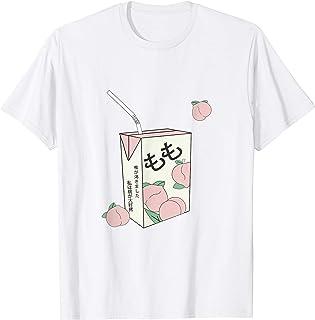Texte japonais des 90s Aesthetic Peach Juice otaku anime T-Shirt