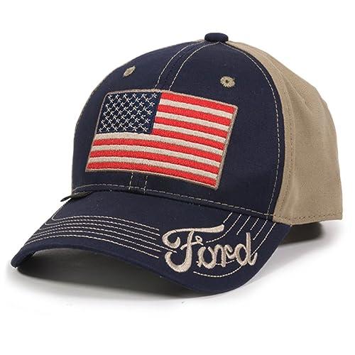 19e2237eee6 Outdoor Cap Unisex-Adult American Flag Truck Cap