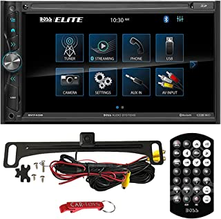 """$149 » BOSS Audio Systems Elite BV745B Car Stereo Safe Driver's Bundle with ACAM4 Backup Camera. 2-DIN 6.95"""" Multimedia Receiver,..."""