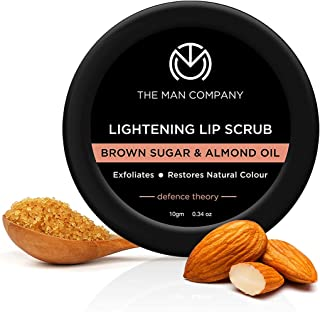 The Man Company Lightening Lip Scrub with Brown Sugar & Almond Oil | For Dry / Chapped Lip | Nourishes | Moisturizes | Bri...