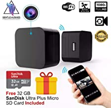Hidden Camera USB Wall Charger - WiFi Spy Cam on Nanny, Pet, Thief - Superior Motion Detection - Full HD 1080P, Wireless Live Monitoring [Free 32 GB SanDisk Micro SD Card Included]