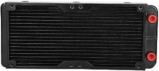 Zerone - Radiador de Refrigeración de Agua para CPU LED (Aluminio, 240 mm, Compatible con 2 Ventiladores de 120 mm)