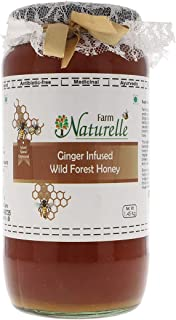 Farm Naturelle-Real Ginger Infused 100% Pure Raw Natural Wild Forest Honey (1.45 KG Big Glass Bottle) -Immense Medicinal V...
