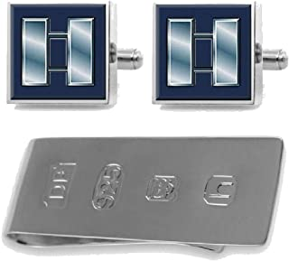 Select Gifts Cufflinks Engraved Money Clip U.S Navy Red E-5 Radioman RM