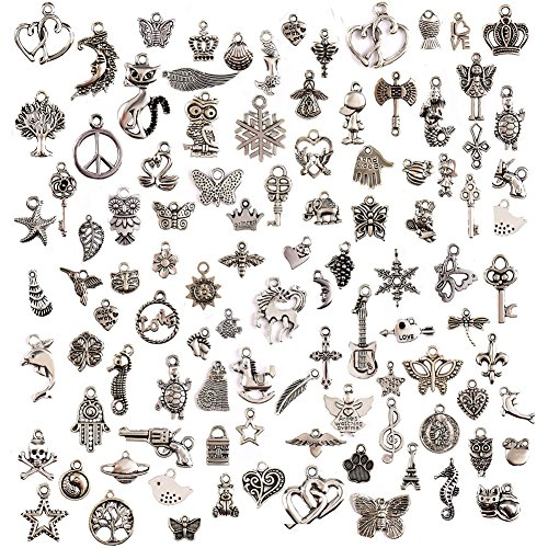 100Pcs Charms for Jewellery Maki...