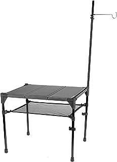 FLYFLYGO アウトドアテーブル 軽量テーブル アルミ製 組み立て式 コンパクト 耐荷重20kg 専用収納ケース付き アウトドア キャンプ用 ブラック