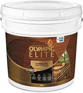 Olympic Elite Advanced Solid Color Stain and Sealant in One Advanced 3-Gallons 80301 White Base 1