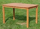 ASS Echt Teak Holztisch 120x70cm Gartenmöbel Gartentisch Garten Tisch Holz sehr robust Alpen - 6