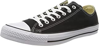 Converse Chuck Taylor All Star Canvas Low Top Sneaker, Black/White ,10.5 womens_us/8.5 mens_us