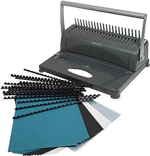 Genie CB 850Relieuse (jusqu'à 350Feuilles, DIN A4, avec kit de démarrage 75pièces) Argent/Noir