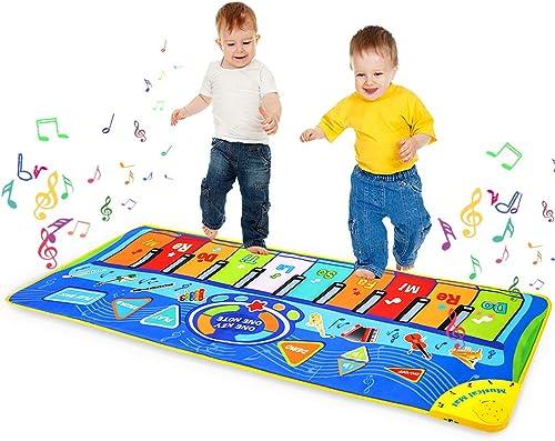 m zimoon Tapis de Musique, Tapis de Piano Musical Tapis de Danse Tapis de Jeu Musical Instrument Touch pour Enfants F...