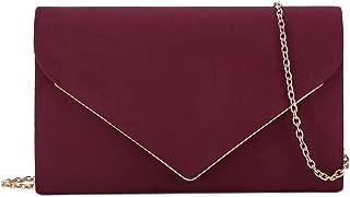 Best burgundy suede clutch bag Reviews