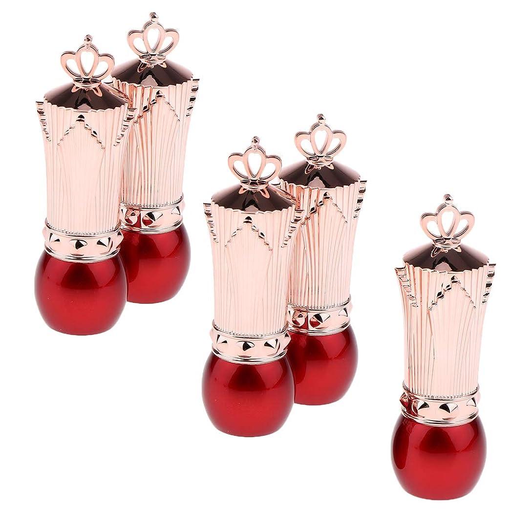 住人肉屋ライトニングSM SunniMix 口紅容器 口紅チューブ 空 リップクリーム管 詰替え容器 5本 全2色 - 赤