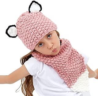 Kids Hat Knit Cap Crochet Animal Hat Scarf Warm Winter Hat Handmade Coif Hooded Beanie Hat for Boys Girls