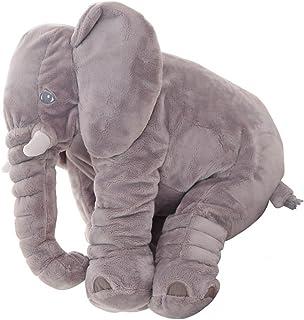 KiKa Mono Bebé Elefante Almohada Niños Elefante Juguete Gris Elefante Cojín Regalos para Niños Recién Nacidos (Gris)
