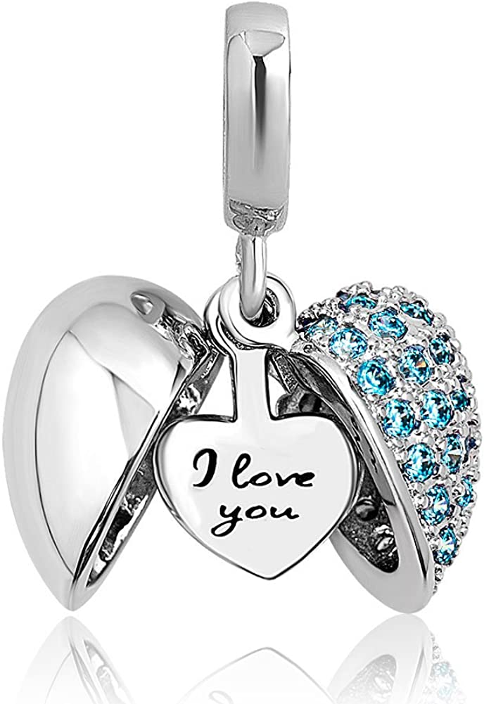 Casa De Novia Jewelry Heart Openable l Love You charm Tree of Life Bead Charms For Bracelet