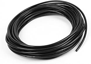 URBEST 6mm x 4mm 12 Meter 39.4ft Pneumatic Air PU Hose Pipe Tube Black for Push Type Quick Fittings