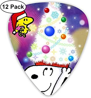 LIUYAN Merry Christmas Snoopy Guitar Picks Customized Fashion 12 Pack Picks for Musical Instruments