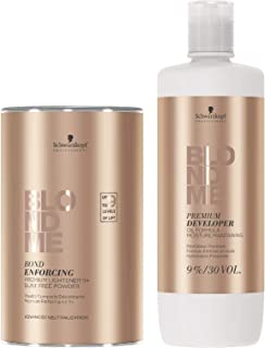 Schwarzkopf BLONDME Premium Lightener 9+ & Developer 9%/ 30 Volume DUO SET NEW