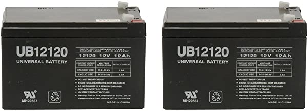 Universal Power Group 12V 12Ah Battery for Spitfire EX 1420 Compact Travel Scooter - 2 Pack