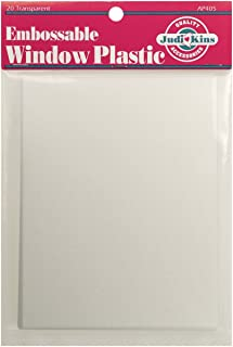 Judikins Embossable Window Plastic Sheets, 4.25-Inch x 5.5-Inch, Clear, 20-Pack