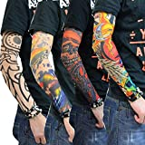 SS_Enterprises_ Nylon Stretch Cloth Arm Art Tattoo Costume Sleeves for Bike Lovers (Multicolour) - Pack of 6