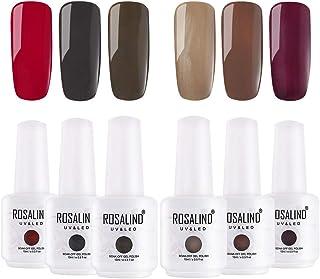 ROSALIND gel esmalte de uñas esmalte conjunto Soak Off UV LED Lacado de la lámpara 6 paquetes 15 ml