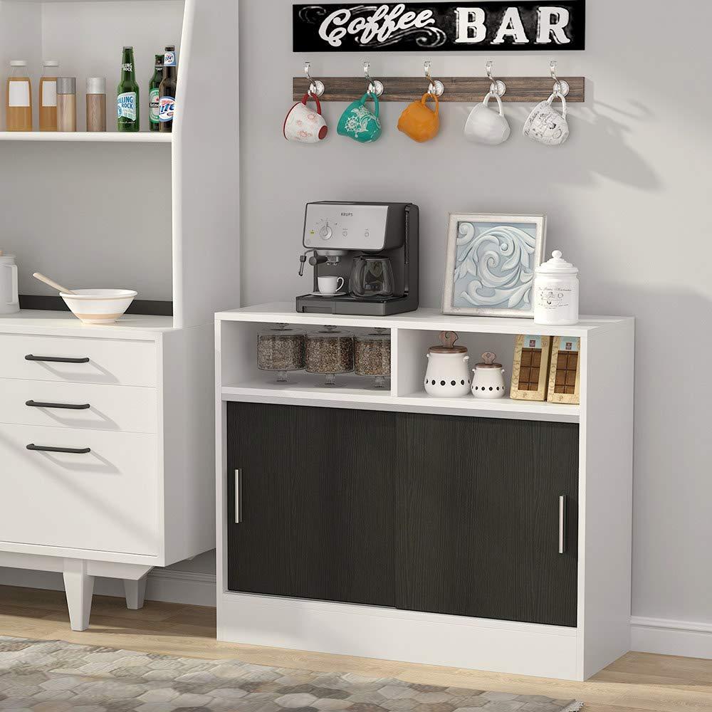 Tribesigns - Mueble de Cocina con Soporte para microondas, Barra ...