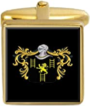 Select Gifts Jeffries England Family Crest Coat Of Arms Heraldry Cufflinks Box Set Engraved