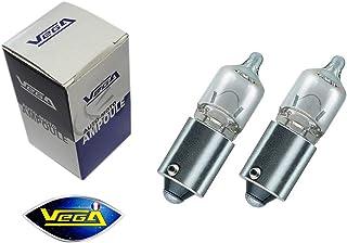 "2 veilleuses Vega® H6W BAX9S haute luminosité 125lm""Maxi"" Halogène 12V"