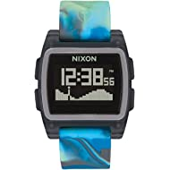 NIXON Base Tide A1104-100m Water Resistant Men's Digital Surf Watch (38 mm Watch Face, 22 mm...