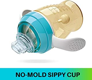 Darlyng & Co.'s First Transition Antibacterial Bite & Release Baby/Toddler Sippy Cup with Straw- (9 oz) BPA- Free (Blue)