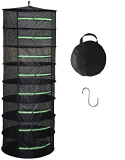 XXL Herb Drying Rack 2ft 8 Layer Mesh Hanging Plant Dry,8 Tier Hydroponic Dry Net,for Garden Outdoor Hanging Plant and Bud...