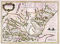 地図1654スコットランドブルーサザーランドオールドラージポスタープリントPAM0149