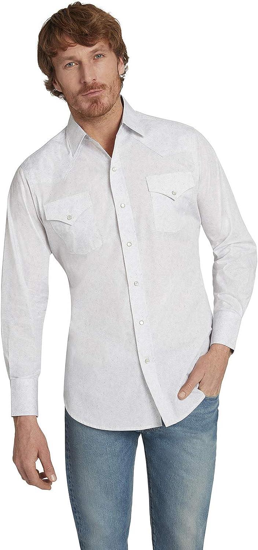 ELY CATTLEMAN Men's Long Sleeve Paisley Print Western Shirt