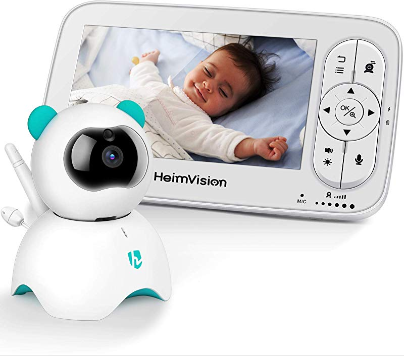 HeimVision HM136 Video Baby Monitor 5 LCD Display 720P HD Two Way Audio Temperature Sound Alarm Security Camera With 110 Wide Angle Night Vision Up To 1000ft Of Range