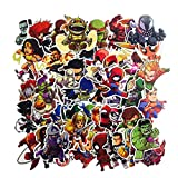 SetProducts Top Stickers ! Lot de 50 Stickers Marvel - Autocollants HD Non Vulgaires –...