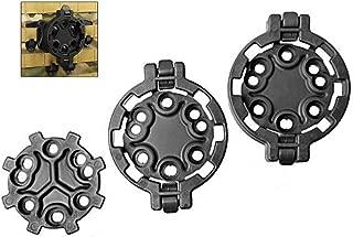 CyberDyer Quick Disconnect Kit QD Holster Platform Adapter 2 Female/1 Male 360 Degree Angles Gun Holster Mount