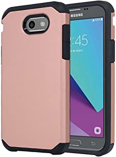 For Samsung Galaxy J3 Emerge / J3 Prime / J3 Mission / J3 Eclipse / J3 2017 / J3 Luna Pro / Sol 2 / Amp Prime 2 / Express Prime 2 Case, OEAGO Shockproof Drop Protection Armor Case Cover (Rose Gold)