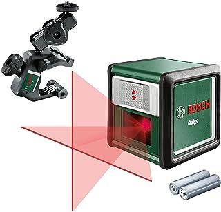 Bosch krysslaser Quigo med klämma MM2 (arbetsområde: upp till 10m, självnivellerande: upp till ± 4°, röd laser, 2x AA-bat...