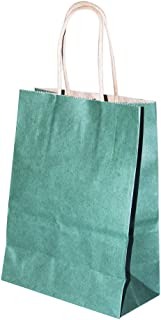 Title: Rosymoment Paper Shopping Bag, Dark Green, PSB-2971 -set of 12pcs