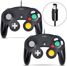 Gamecube Controller, VOYEE Wired Game Cube Gamepads 2 Pack for Nintendo Gamecube & Wii Console (Black)